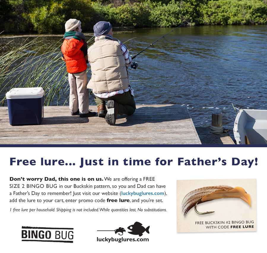 Free lure… Just in time for Father's Day!